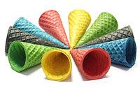 Вафельные Рожки Сахарные 150 мм Цветные