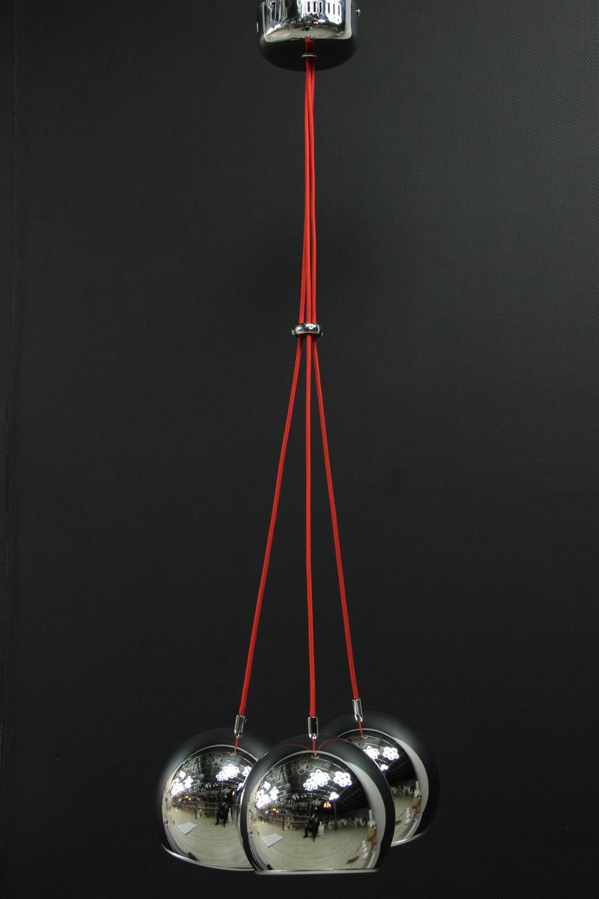 LOFT светильник на 3 плафона хром