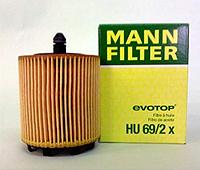 Масленый фильтр mann   HU 69/2 x элемент
