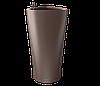 Вазоны настольные LECHUZA  DELTA15 - 15*15*H26cм кофейный металлик