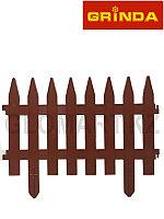 Забор декоративный GRINDA, 28×300см, терракот, 422201-T
