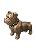 Фигура садовая Бульдог, бронзовый цвет