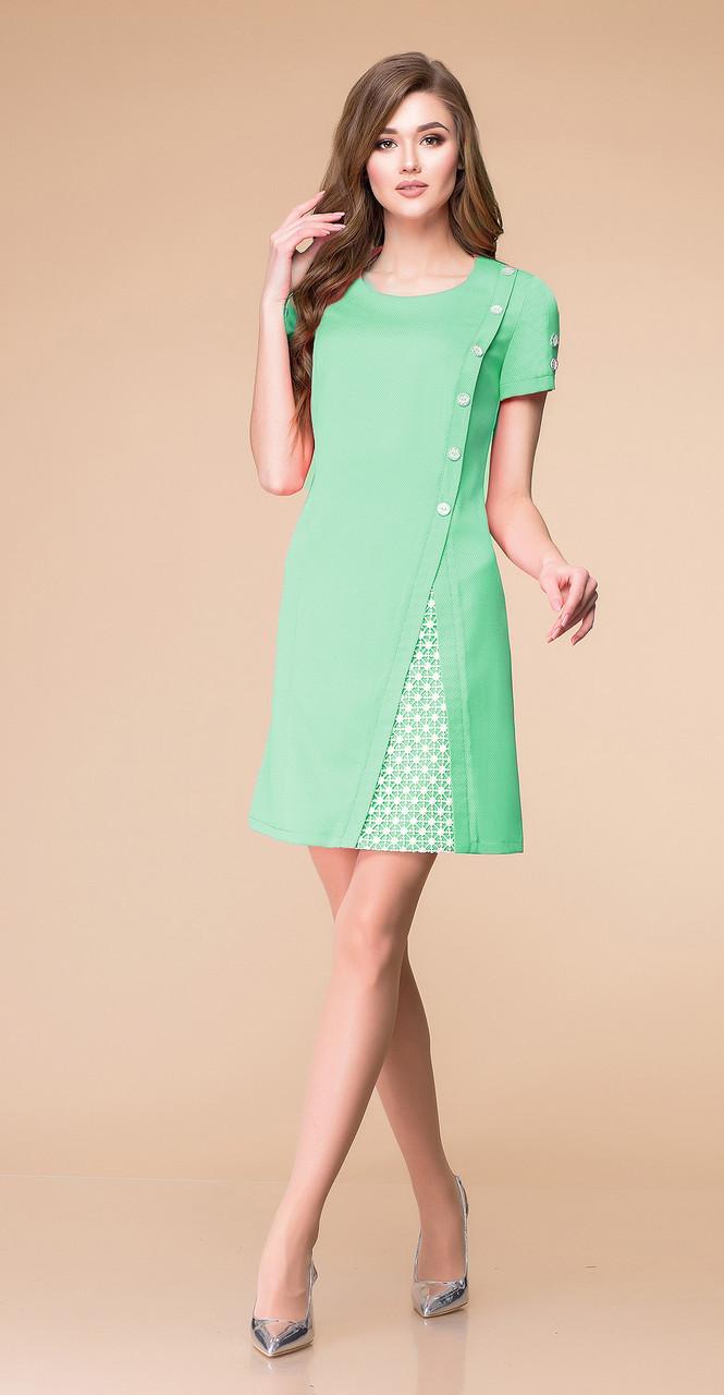 Платье Romanovich-1-1205, мята, 46