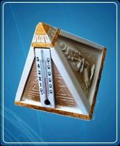 """Термометр бытовой сувенирный """"Пирамида""""(0...+50) основание-гипс"""