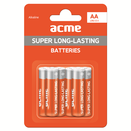Батарейка алкалиновая ACME LR6 Alkaline Batteries AA/6pcs
