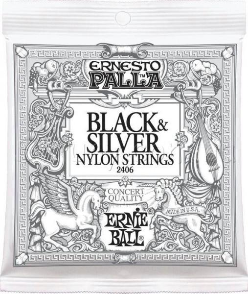 Струны для классической гитары Ernie Ball 2406 Black & Silver Ernesto Palla Nylon