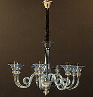 Стеклянная люстра на 8 рожков , фото 1