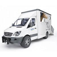Игрушка Bruder 02-533 Mercedes-Benz Sprinter фургон с лошадью