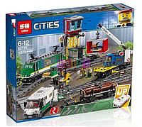 Конструктор Lego City Trains Товарный поезд Lepin 02118 аналог Лего 60198, фото 1