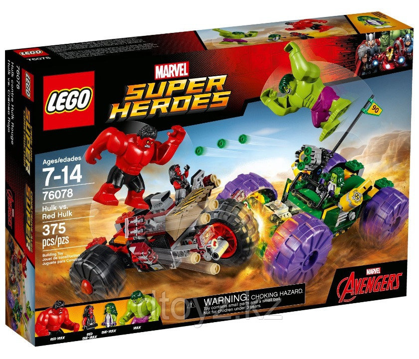 Lego Marvel Super Heroes 76078 Халк™ против Красного Халка™ Лего Супер Герои Marvel