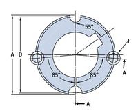 PHF TB2012X40MM коническая втулка SKF