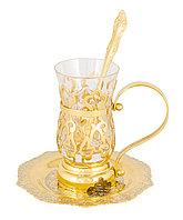 """Набор чайный """"Восточный""""  (тарель, стакан, ложка) - Купить в Казахстане"""
