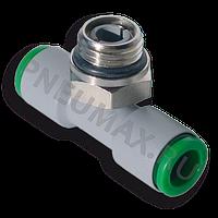 T200618 - Фитинг-тройник цанговый поворотный, тип ''Т'', Dт=6 мм, G1/8''