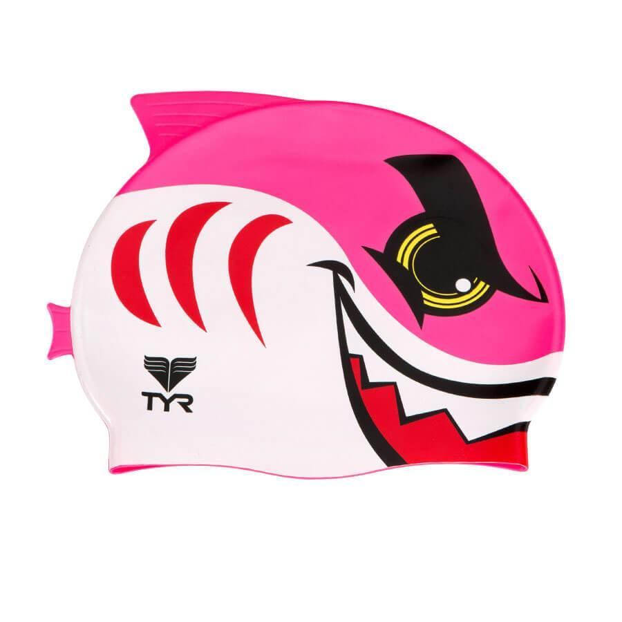 Шапочка для плавания TYR Charactyrs Shark cap 670