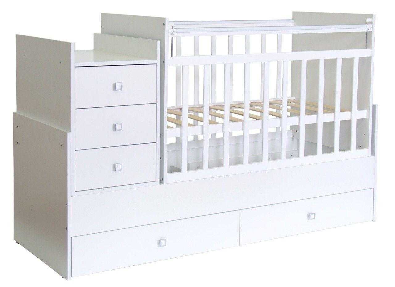 Кроватка - трансформер Фея 1200 белый