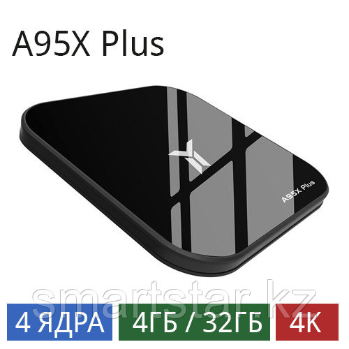 A95X Plus (4/32 Gb) android tv box на Android 8.1