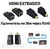 HDMI удлинитель по 1 витой паре RJ45 до 30 метров