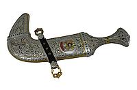 """Кинжал """"Ханджар"""" (сталь дамасская, серебро) - Купить в Казахстане"""