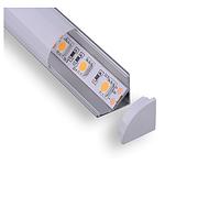 Алюминиевый анодированный  профиль для ленты 16x16mm C003A