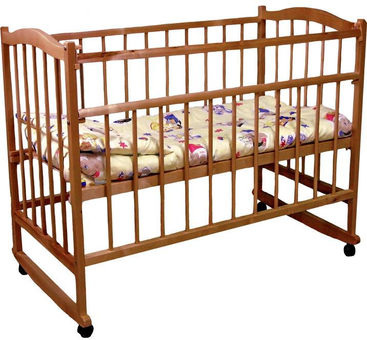 Детская кроватка Фея 204 Орех