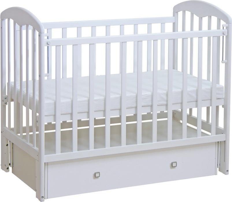 Детская кроватка Фея 328 универсальный маятник, ящик Белый
