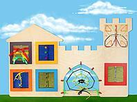 Развивающая панель Городок Монтессори. Модуль Мастерица