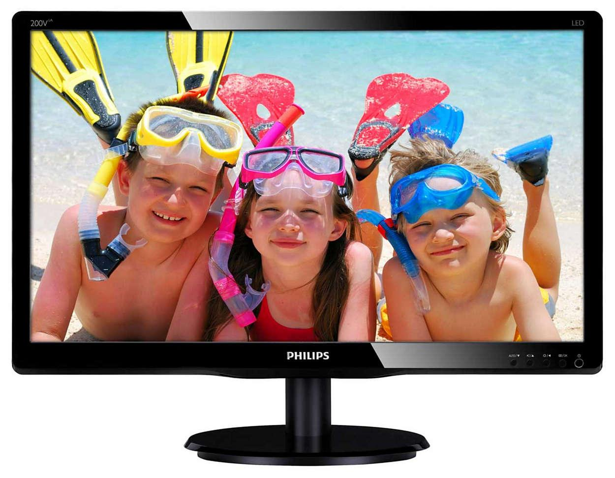Монитор PHILIPS 200V4LAB2/01 19.5""