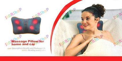 Массажная роликовая подушка для дома и авто, фото 3