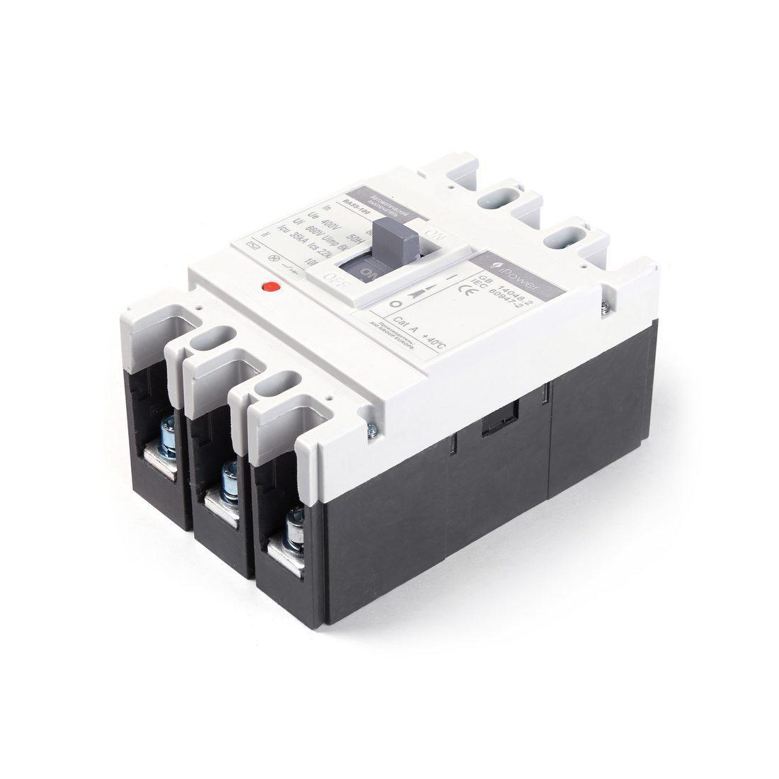 Автоматический выключатель установочный iPower ВА55-100 3P 80А, 380/660 В, Кол-во полюсов: 3, Предел отключени