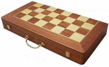 Настольные игры 3 в 1 ARMS D-9341, Корпус: Дерево, Покрытие: Глянцевый лак, Кубиков: 5 шт., Высота фигур: От 5