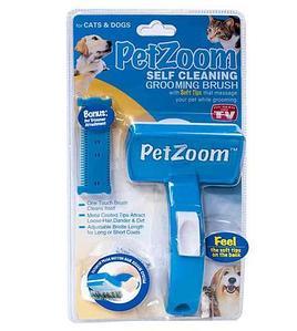 Щетка-триммер самоочищающаяся Pet Zoom {Пет Зум} для кошек и собак