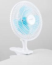 Вентилятор настольный NORMANN ACF-061 с клипсой, фото 2