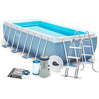 Каркасный бассейн 4x2х1 м, фильтр-насос + лестница, Intex 28316