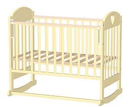 Кровать детская ВЕДРУСС ИРИШКА-6 колесо/качалка Слоновая кость