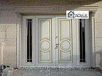 Дверь входная филенка со стеклом
