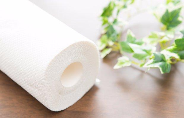 Бумажные полотенца с тиснением