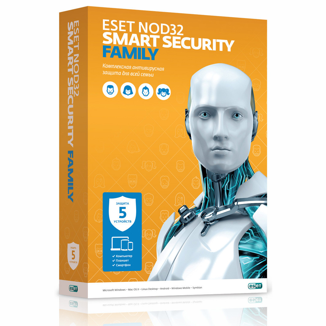 ESET NOD32 Smart Security Family 5 ПК / 12 мес.