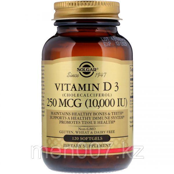 БАД Витамин D3, 10000 IU (120 капсул)