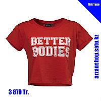 Короткая футболка для фитнеса Better Bodies красная, фото 1