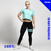 Короткая футболка для фитнеса Better Bodies голубая, фото 1