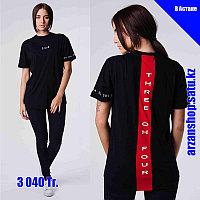 Женская футболка 304 черная
