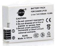 Аккумуляторы LP-E8 на Canon EOS 550D 600D 650D от DSTE, фото 1