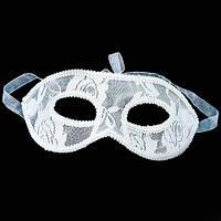 Ажурная карнавальная маска «Мистеро» (Белый)