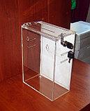 Ящик для пожертвований 215х120х300 с прорезями под ремень и карманом А4, фото 6