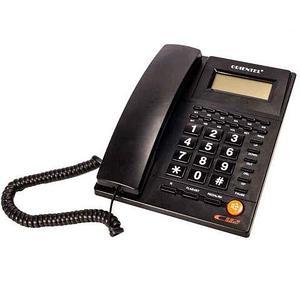 Телефон стационарный с определителем номера ORIENTEL KX-T1588CID (Черный)