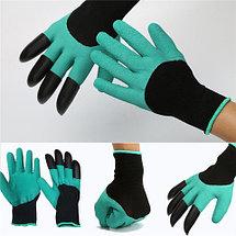 Перчатки садовые с когтями Garden Genie Gloves 4 в 1, фото 3