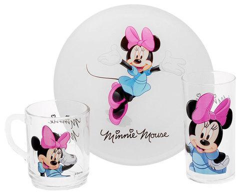 Набор детской посуды Luminarc Disney «Minnie Colors» [3 предмета] H5321
