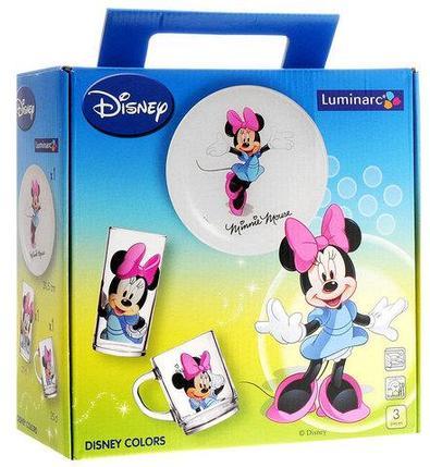 Набор детской посуды Luminarc Disney «Minnie Colors» [3 предмета] H5321, фото 2