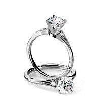 Золотое кольцо в Винтажном стиле c центральным бриллиантом от 0,45Ct
