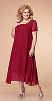 Платье Romanovich-1-1332/9, бордо с вышивкой, 52